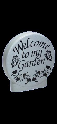 Welcome to my Garden Disk (Granite Look) photo