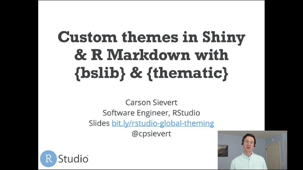 Custom theming in Shiny & R Markdown with bslib & thematic