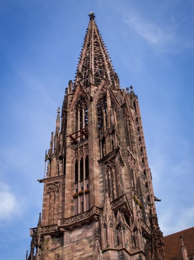 The cathedral in Freiburg