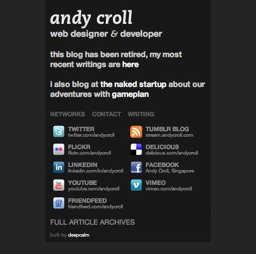 2009-era andycroll.com