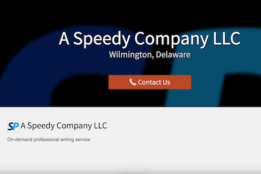 A Speedy Company LLC academic writing company