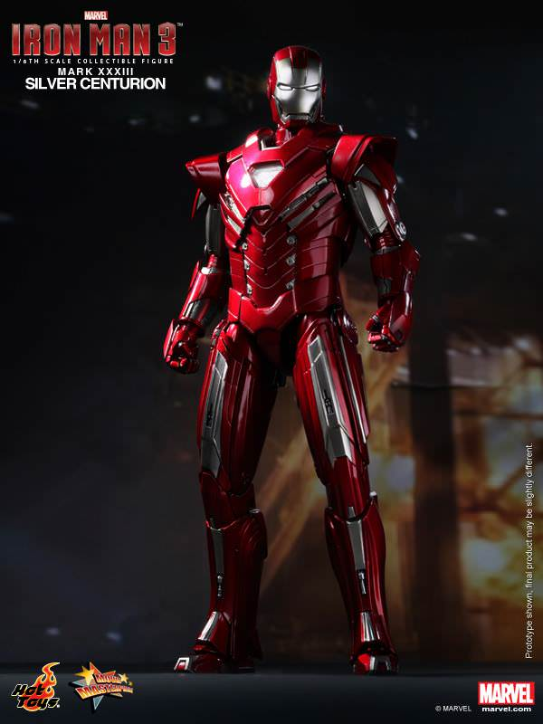 Hot Toys Iron Man 3 MMS213 Silver Centurion (Mark XXXIII) 1/6th Scale Collectible Figure