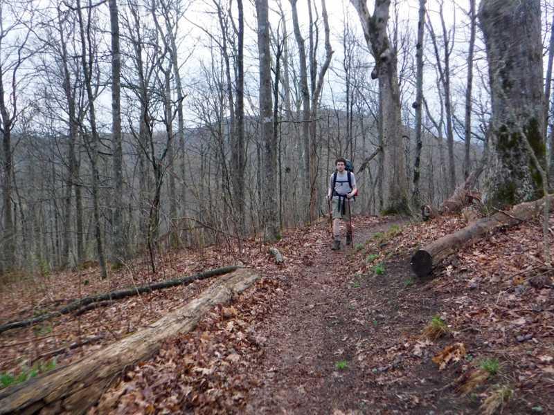 Walking toward Mollies Ridge
