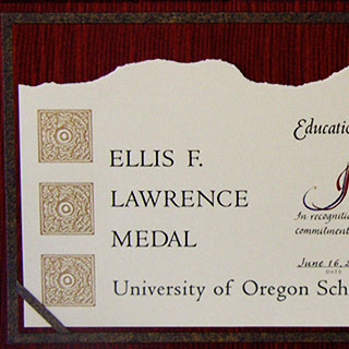 Ellis F Lawrence Award