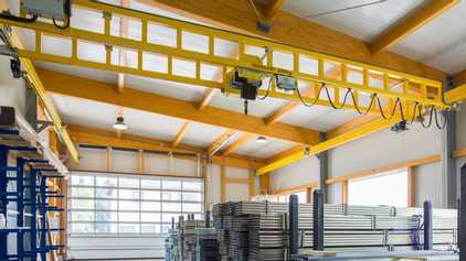 Light Cranes for industrial lifting, fixed, ceiling mounted, free standing systems