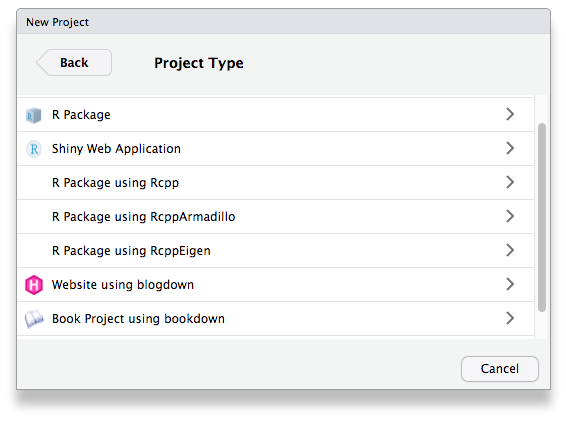 R project templates