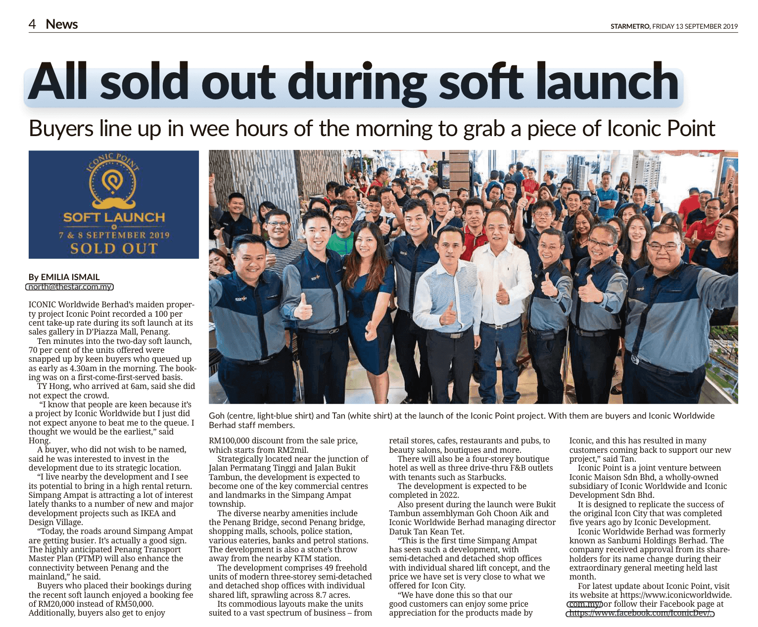 19sep13 the star metro north all sold out during soft launch
