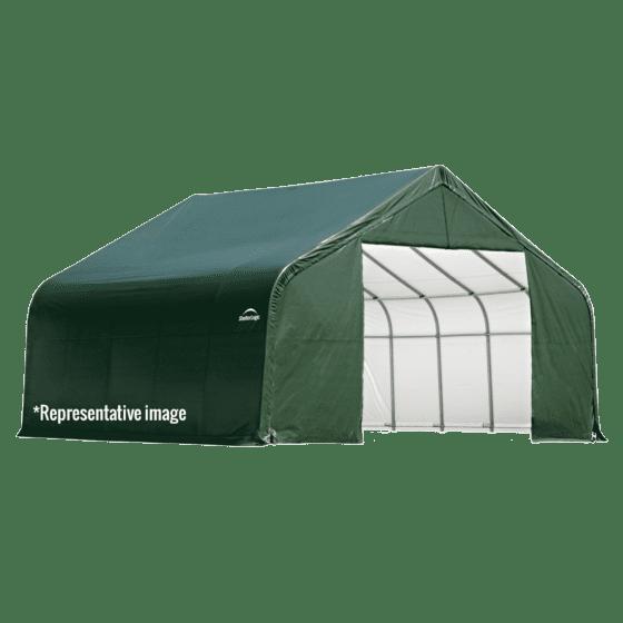 12x20x8 Peak Shelter Green Colour