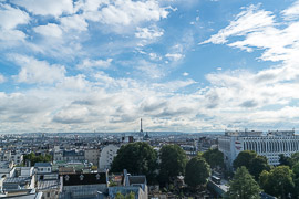 View from the hotel bar where I was staying.  Paris, France, 2017