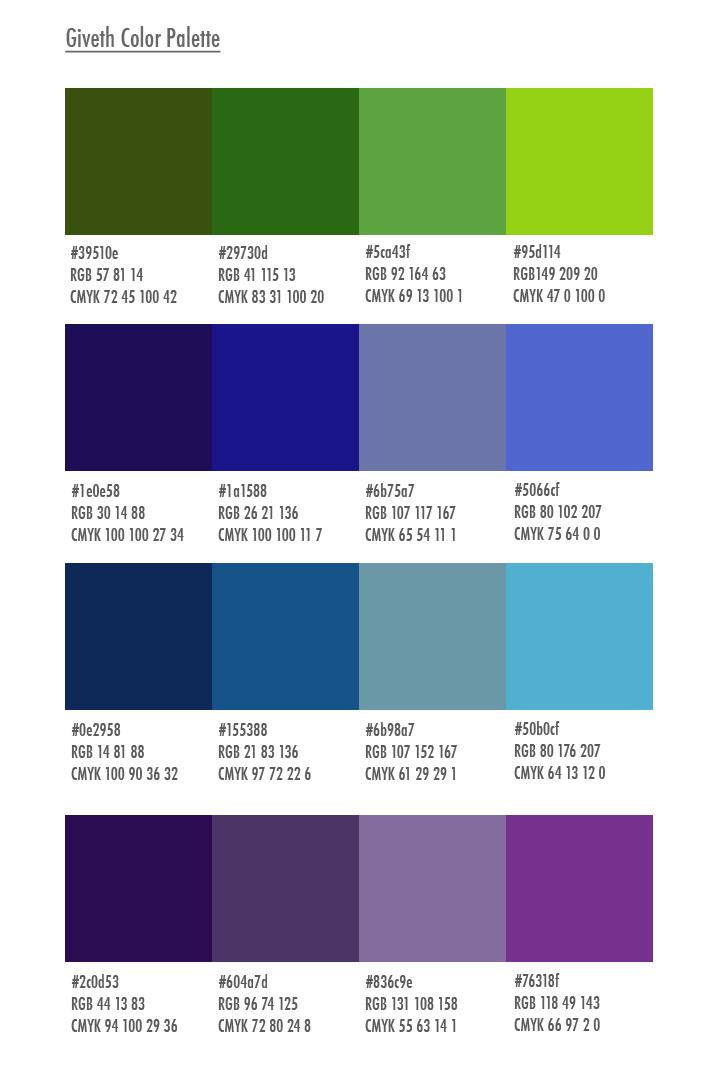 Giveth Color Palette