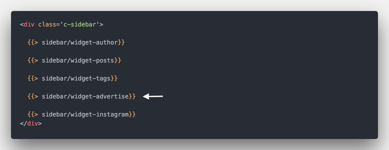 Sidebar Partials Code