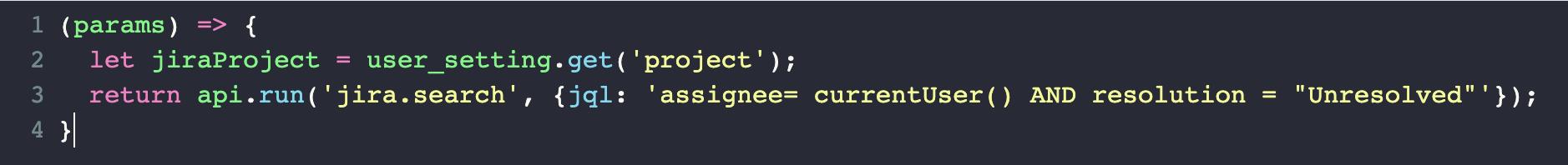 User configuration settings