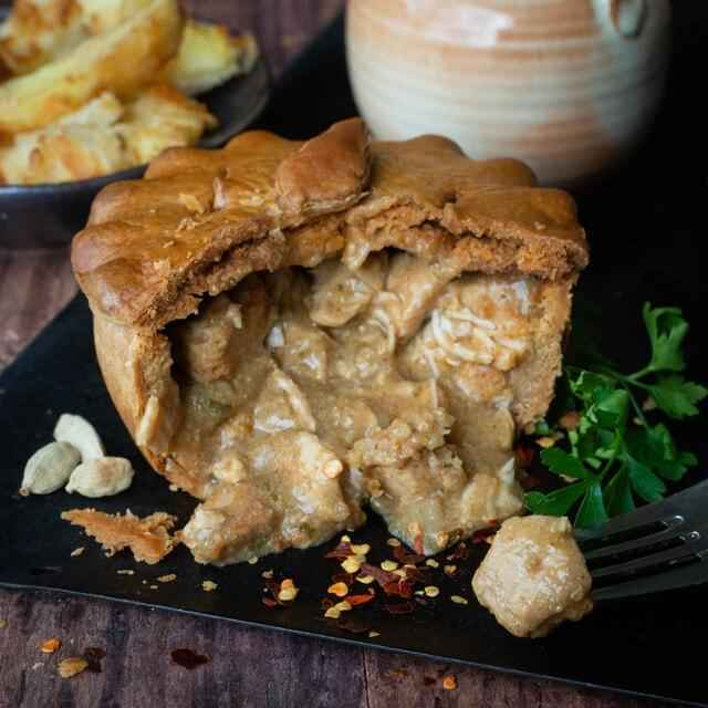 Chip Shop Chicken Curry Pie