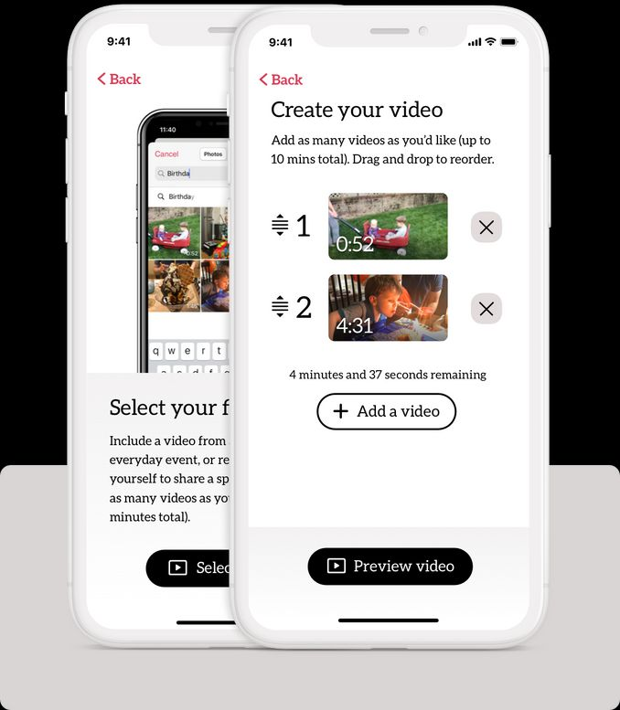 A screenshot of our iPhone app