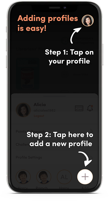 Switch the profiles on the app with a few taps