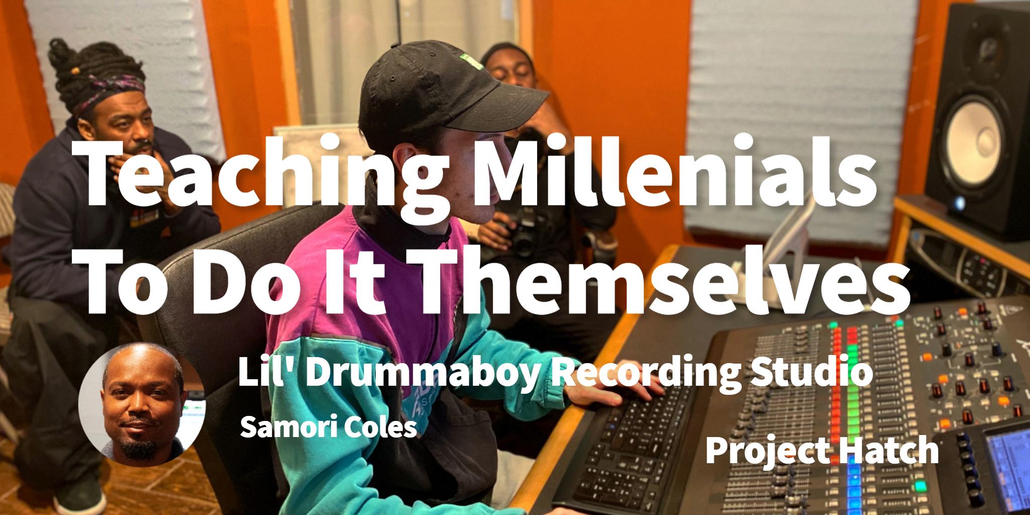 Lil' Drummaboy Recording Studio Samori Coles