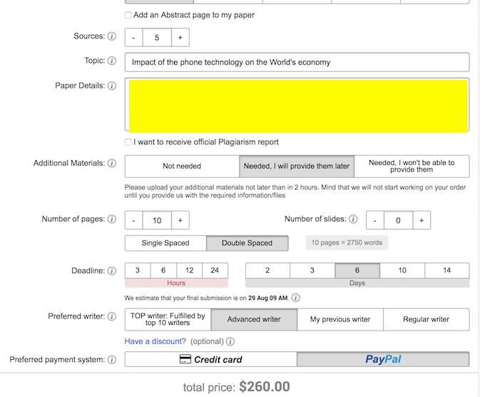 paperhelp.org order process