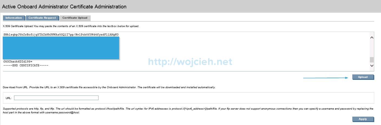 Installing signed SSL certificates in HP c7000 enclosure - 6