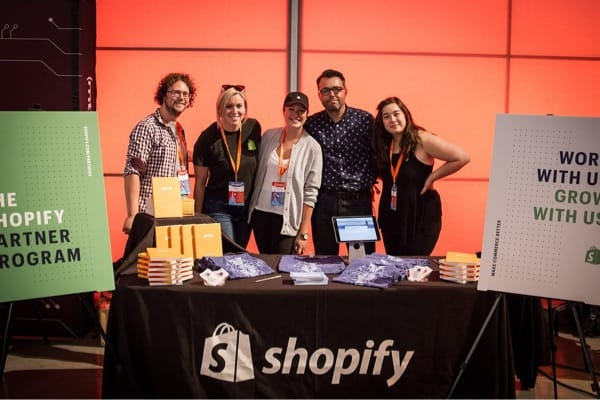 Shopify team at a Smashing Conference