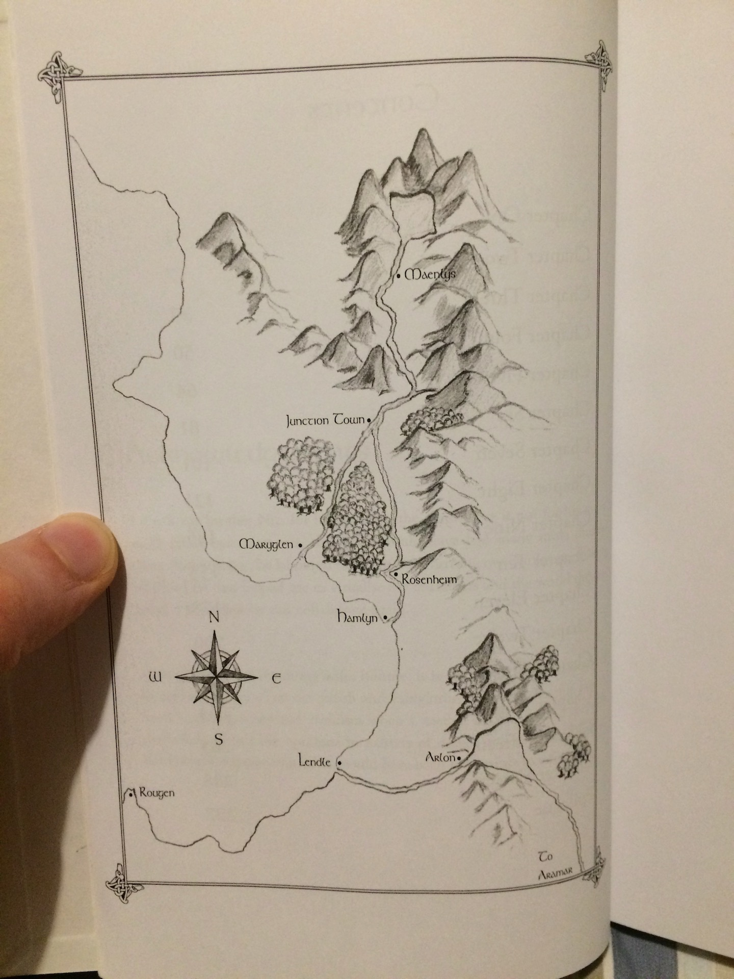Map for the original edition of Weaver of Dreams