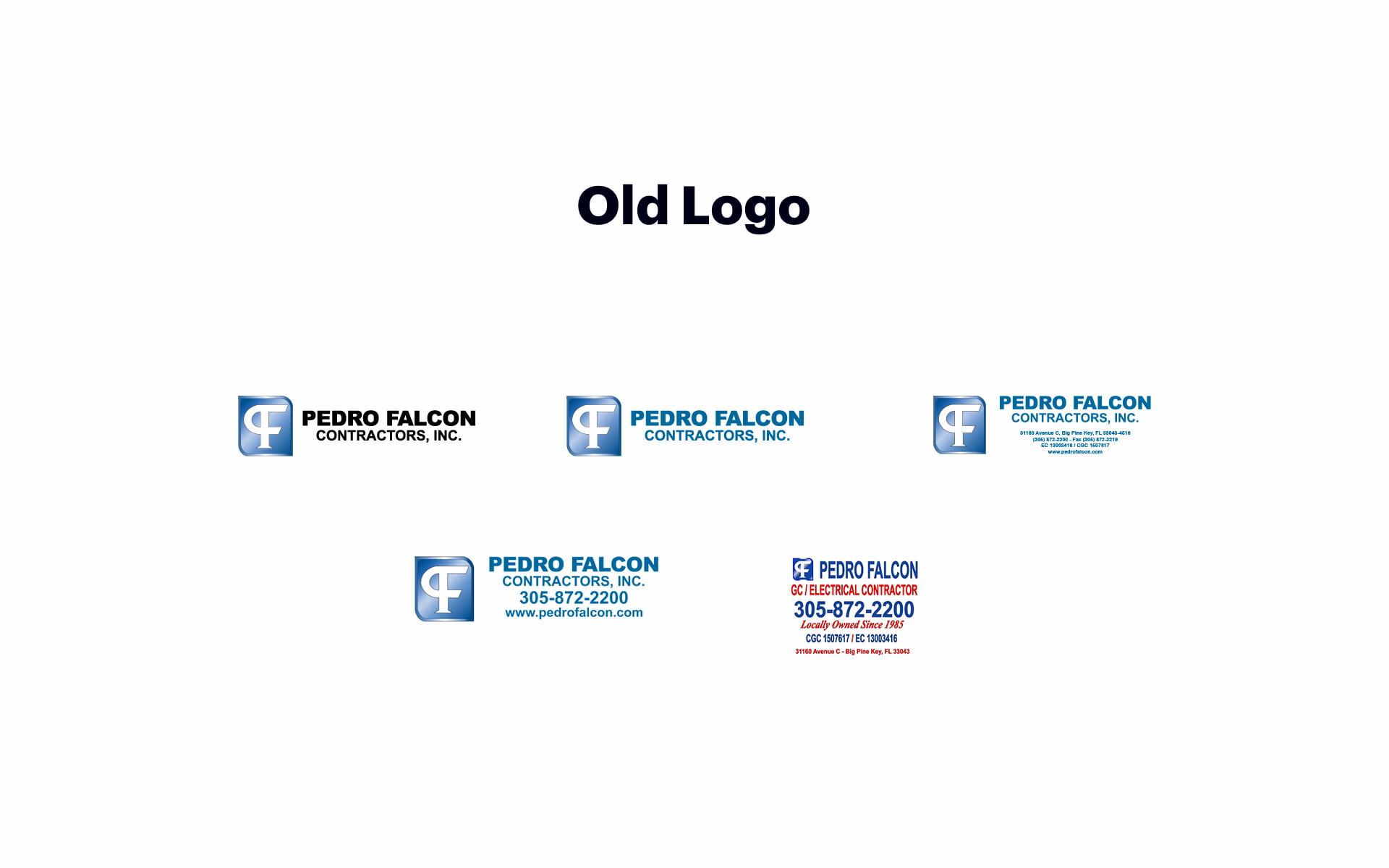 Old Pedro Falcon Contractors Inc. logo design