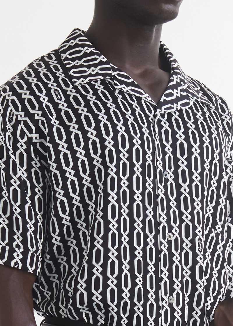 Ferah  bowling Shirt with chain print detail