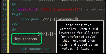warning - case sensitive parameters