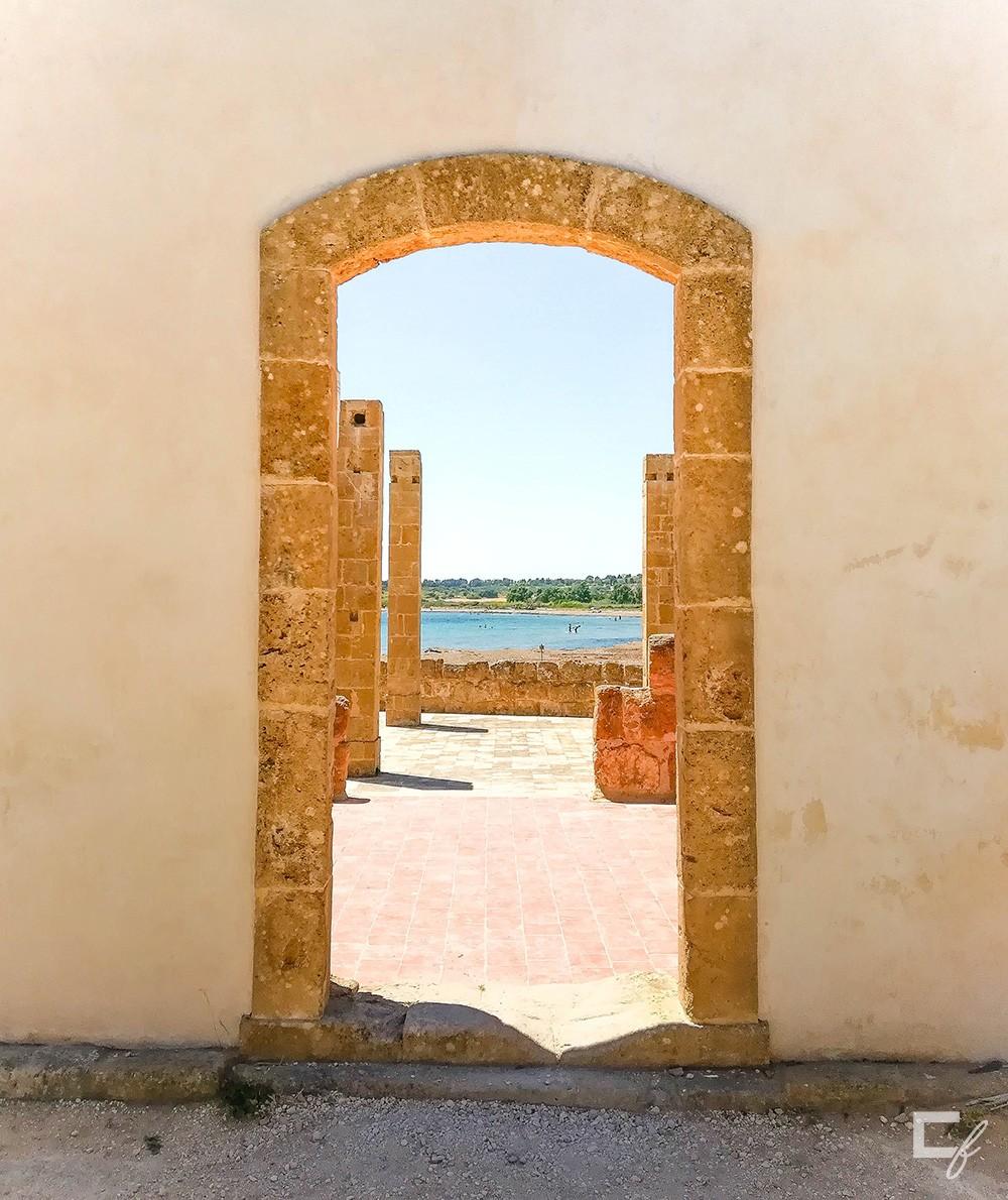 Porta frontale tonnara, Vendicari