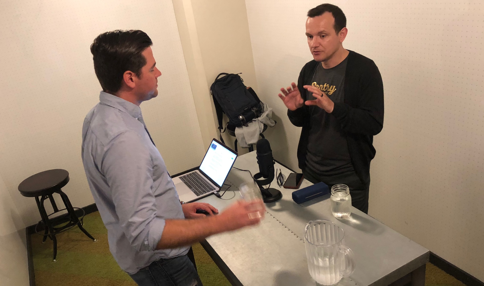 Bjoern Zinssmeister interviewing Vlad Cretu on The Engineering Hangout