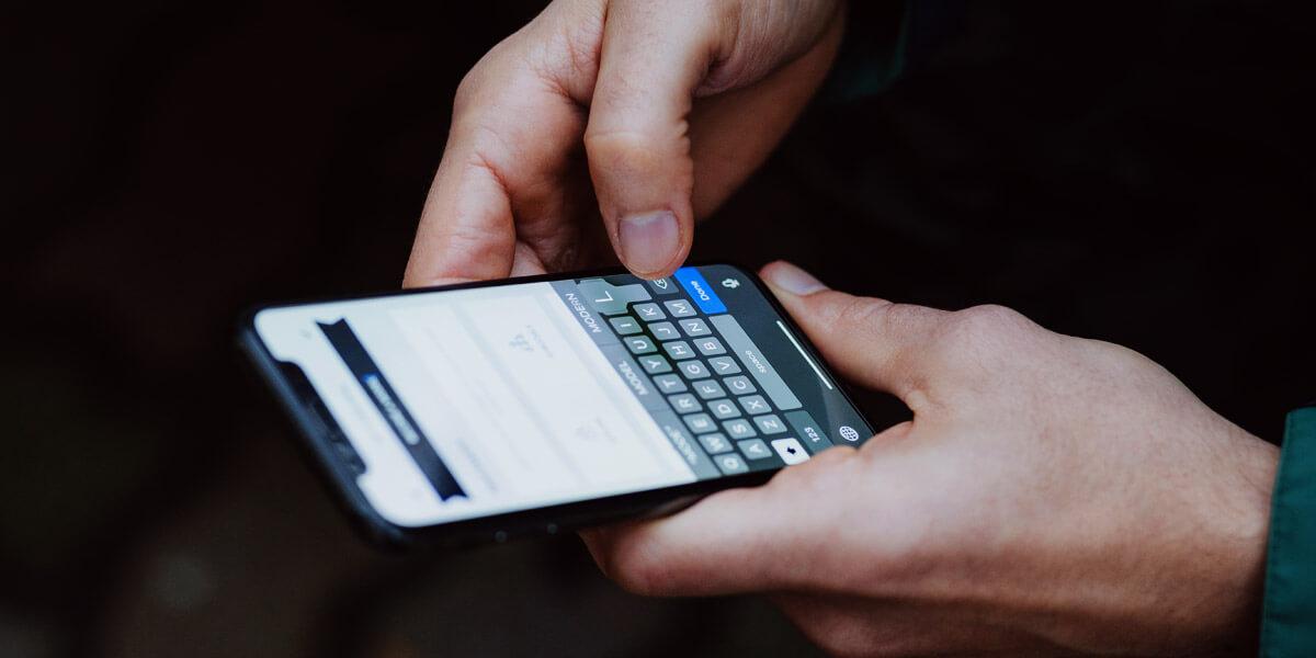 latest smartphone in hand