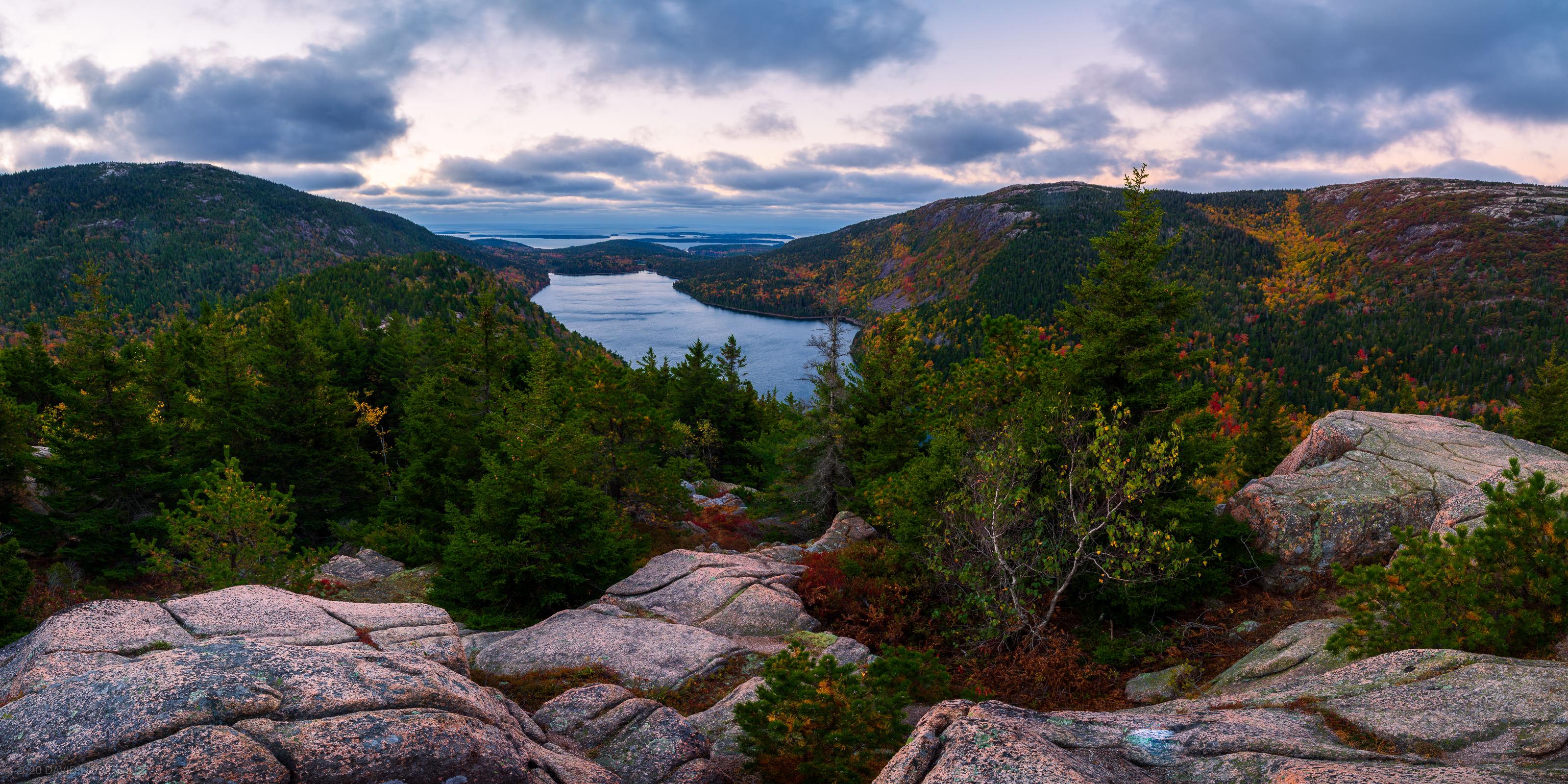 Jordan Pond Dawn Panorama