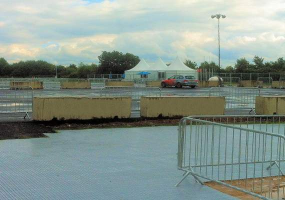 Concrete traffic barriers for events