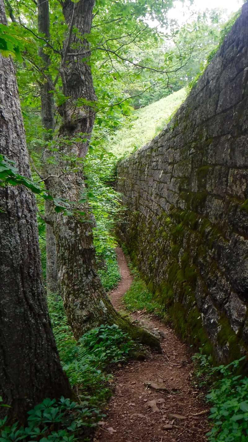 Wall along Blue Ridge Parkway