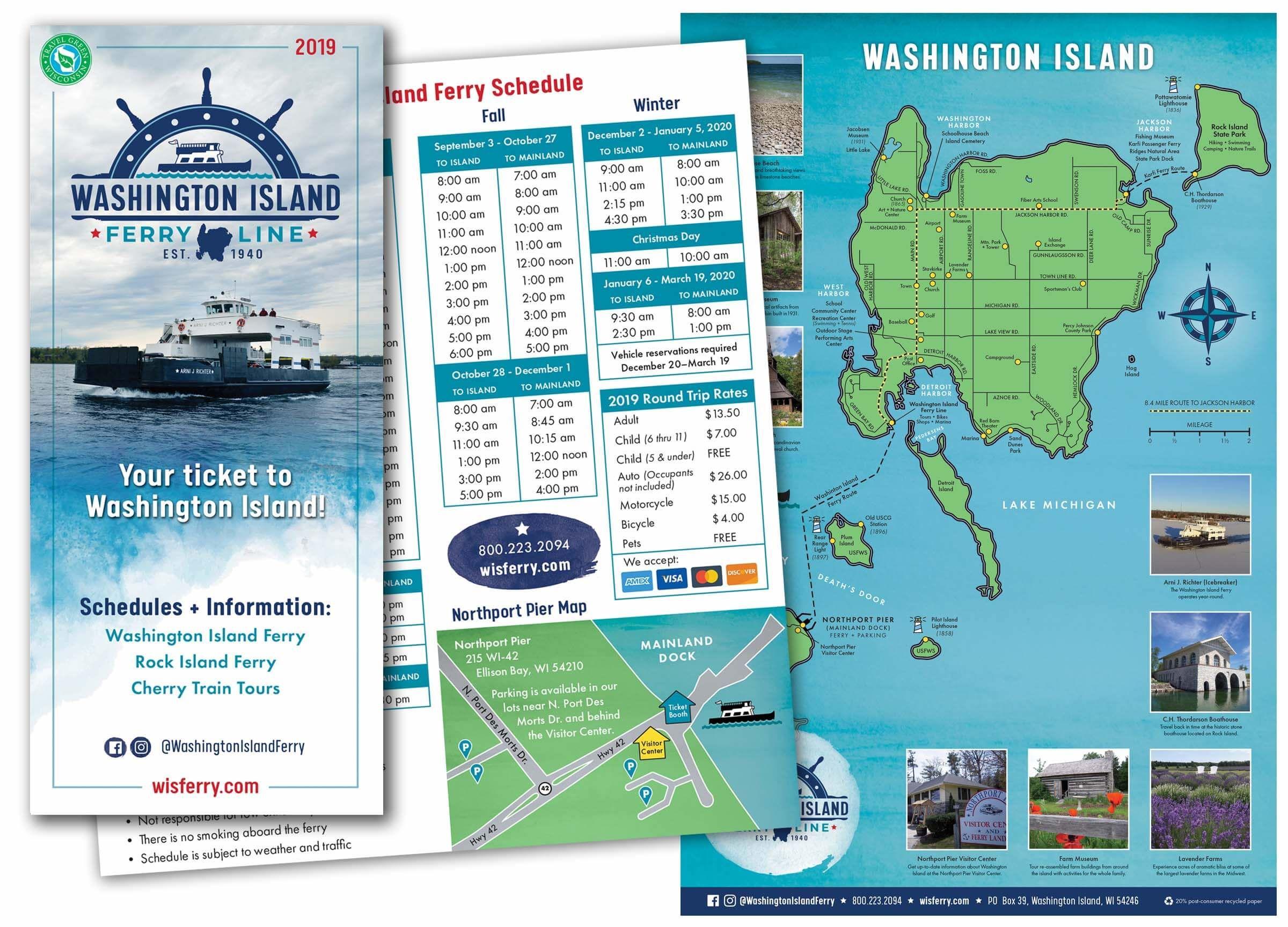 Washington Island Print Brochure
