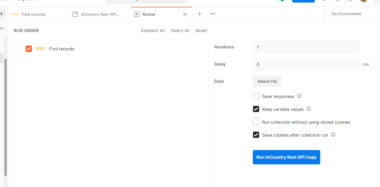 Postman - Run InCountry REST API