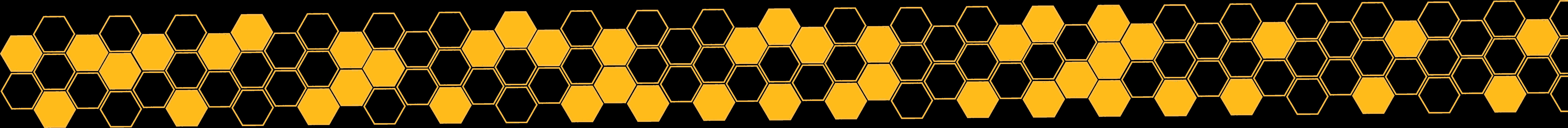 long yellow honeycomb