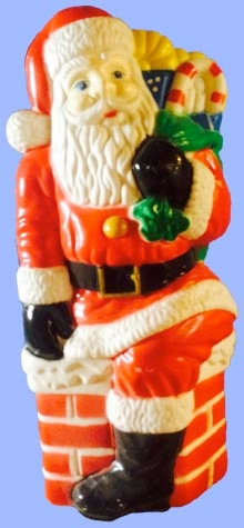 Santa In Chimney photo