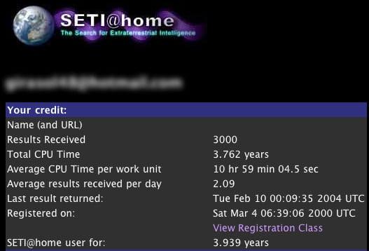 Seti 3,000 work units