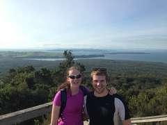 At the top of Rangitoto
