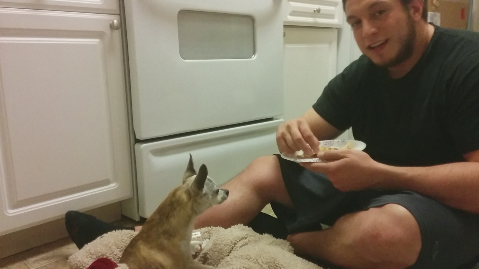 Randall Feeding Scribbles