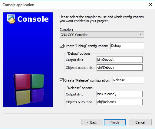 Code::Blocks 選擇編譯器