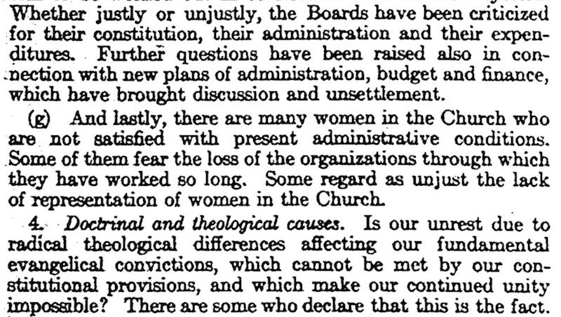 "The story of the 1926 study of the PCUSA on the ""Causes of Unrest Among Women of the Church"""
