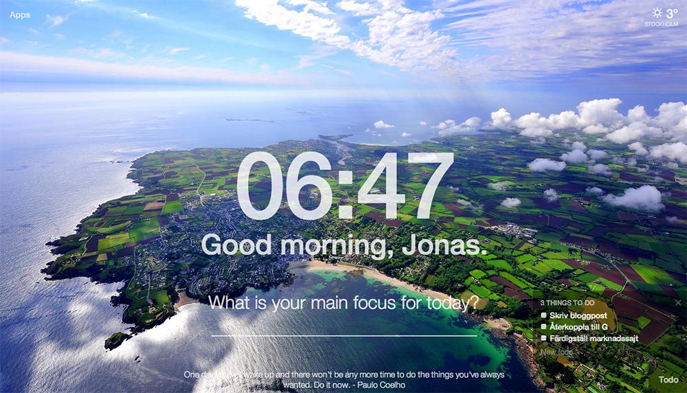 Öka produktiviteten med Momentum – ett Chrome tillägg