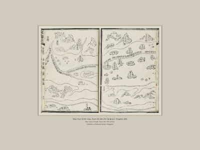 """Mao Kun (茅坤) Map from Wu Bei Zhi《武备志》, Chapter 240"", by Mao Yuanyi (茅元儀) (Late 19th century)."