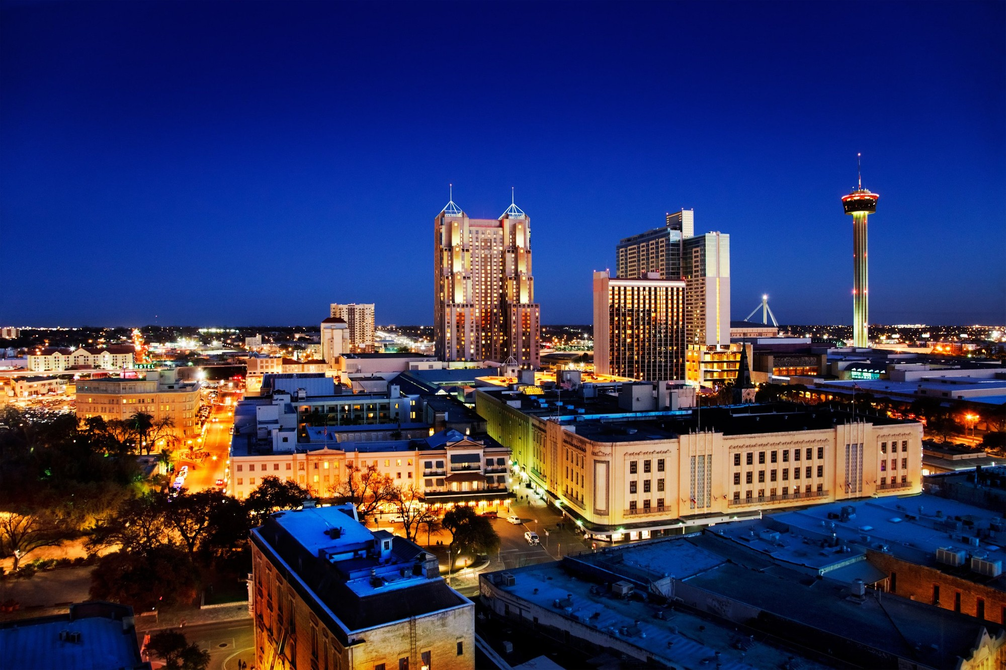 City view of downtown San Antonio