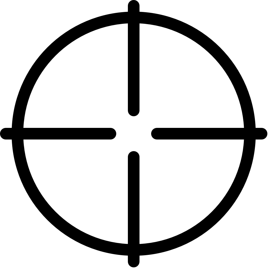 Crosshair circle cross