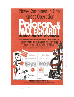 Poloron Products Poloron & Max Eckardt Announcement (1972) preview