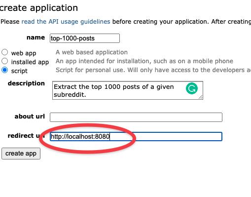 Scraping Reddit data with API