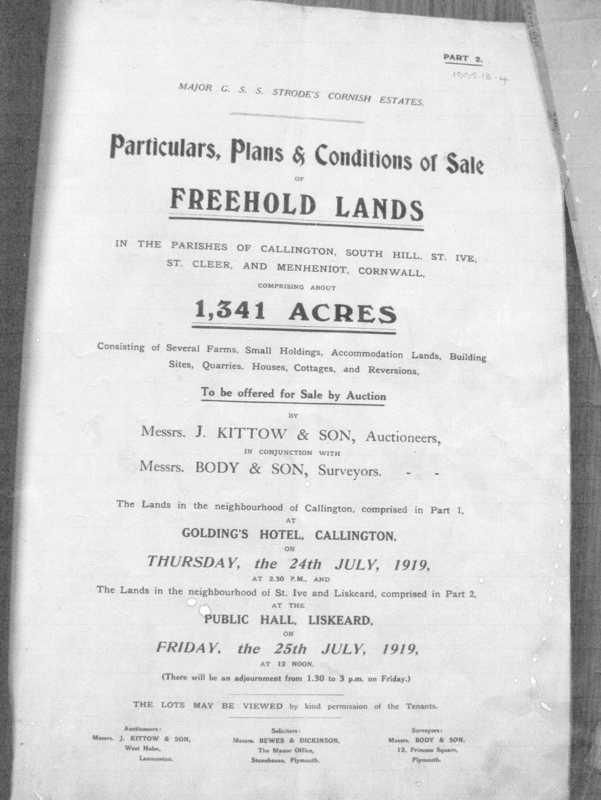 Middle Hill - Sale of Land and Buildings