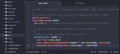 edytory html - atom